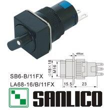 Interruptor de botão rotativo seletor dois ou três posição xb6ecd232f xb6ecd222f xb6ecd221f la68 las1 lay16 sb6b/11fx 16mm