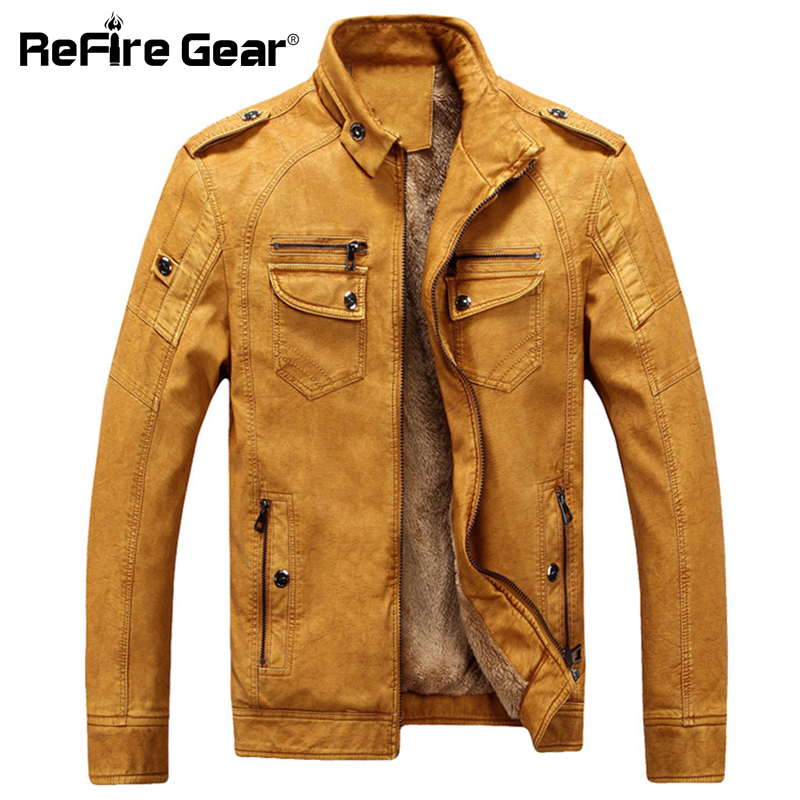 ReFire Gear Brand Clothing Military Jackets Men Autumn Winter Warm Windbreaker Tactical Jacket Coat Man PU Faux Leather Jackets
