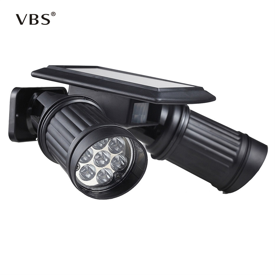 Solar Lamp 14 LED Solar Light Motion Sensor Solar Pillar Lamp Led Solar Garden Light Outdoor Spotlights Lamp ...