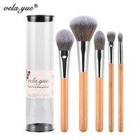 Vela Yue Makeup Brush Set Premium Face Eyes Brush Collections Eco Friendly Bamboo Beauty Tools