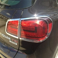 Rear Lights Cover Decoration High Quality ABS Chrome 4PCS Fit For Volkswagen VW 2010 2013 Tiguan Exterior Sticker Accessories