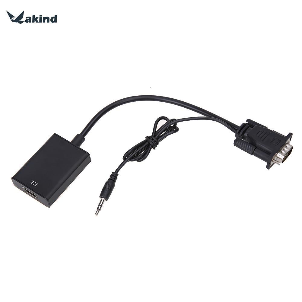 VGA To HDMI Output 1080P HD + USB Audio TV AV HDTV Video Cable Converter Adapter