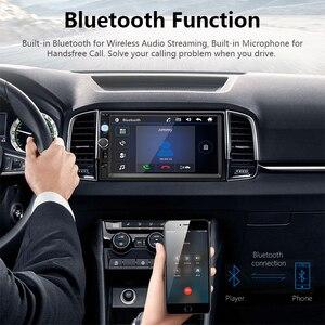 "Image 3 - Jansite 7 ""מלא HD 1080P רכב רדיו MP5 נגן DVD עם 8LED אור אחורי מצלמה מסך מגע Bluetooth מראה קישור 2 דין רכב סטריאו"