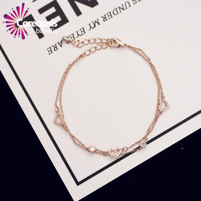 Love Bracelet Rose Gold Color Jewelry Party Wedding Gift For Women Wholesale Top Quality