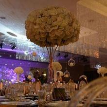 10 шт./лот Золотой Цветок Столб золотая металлическая подставка для цветов Красивая форма рамка для украшения свадебной вечеринки события