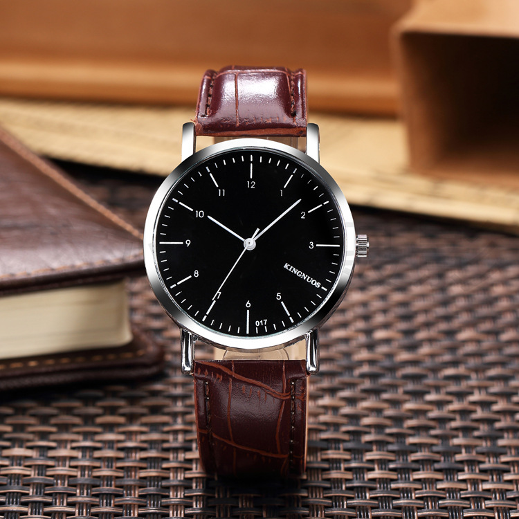 Retro belt contracted students waterproof watch fashion female expression couple Shi Yingnan table on the table