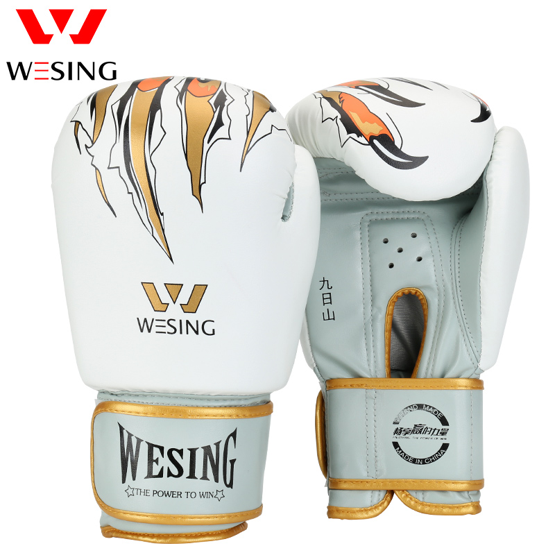 Wesing Muay Thai Boxing Gloves MMA Sanda Martial Gloves Fight Sandbag Training Punching Bag Mitts guantes