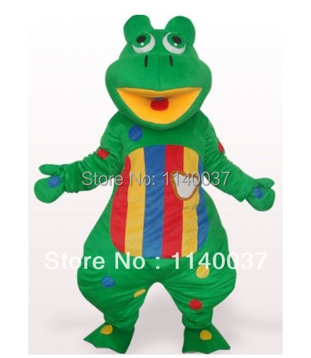 mascot Green Frog Mascot Costume Valentine's Day Colorful Frog Prince Mascotte Outfit Suit Fancy Dress