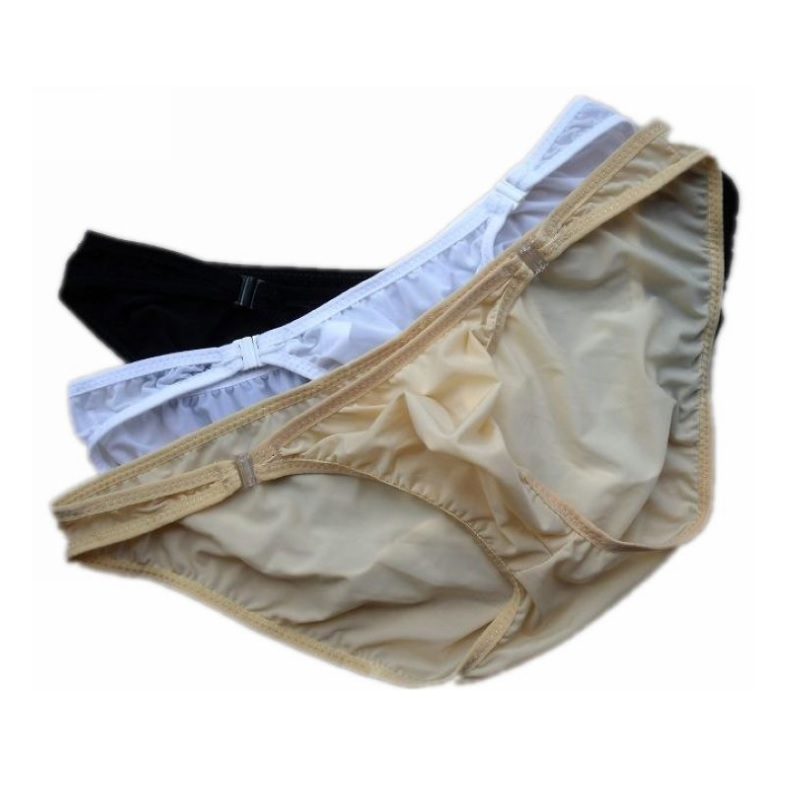 Low Waist Ice Silk Mens Sexy Underwear Briefs Male Panties Short Pant Comfortable With Buckle ZJH012S