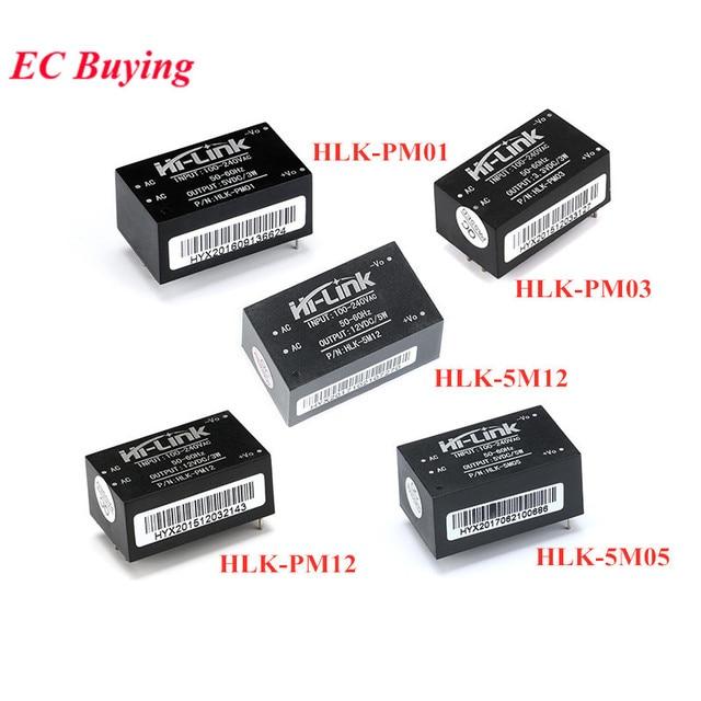 HLK PM01 HLK PM03 HLK PM12 HLK 5M05 HLK 5M12 AC DC 220V para 12V 5V700mA 5V 3.3V Módulo de fonte de Alimentação AC DC Step Down Buck Módulo