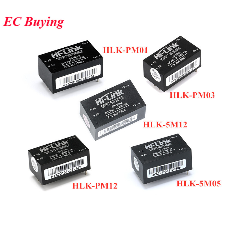 HLK-PM01 HLK-PM03 HLK-PM12 HLK-5M05 HLK-5M12 AC-DC 220V to 5V 3.3V 12V 5V700mA Power Supply Module AC DC Step Down Buck Module