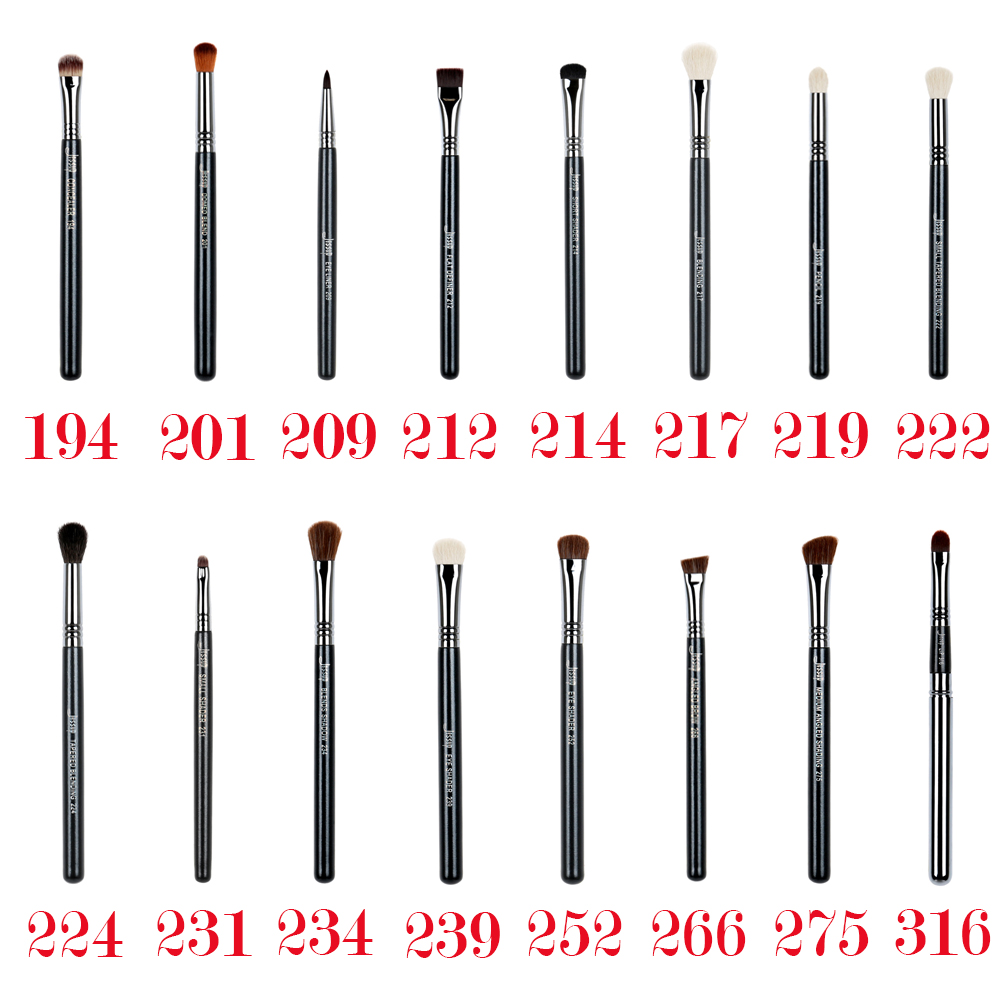 Jessup 1pcs Profesional sintetik-semulajadi rambut Kayu pemegang Concealer Eyeliner Blending EyeShader Single Eyes Make up Brushes