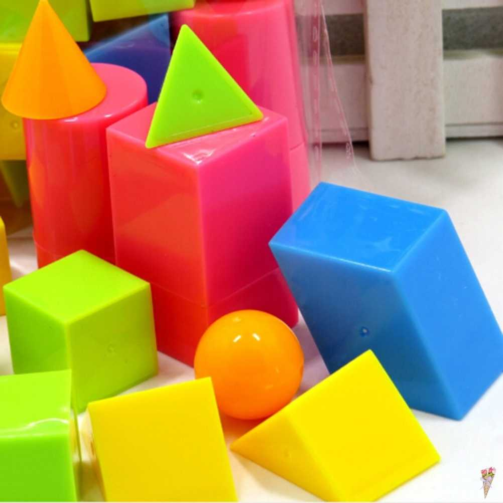 16pcs/set Geometric shapes solids oyuncak montessori toys educational toy materials juguetes math baby brinquedos for children
