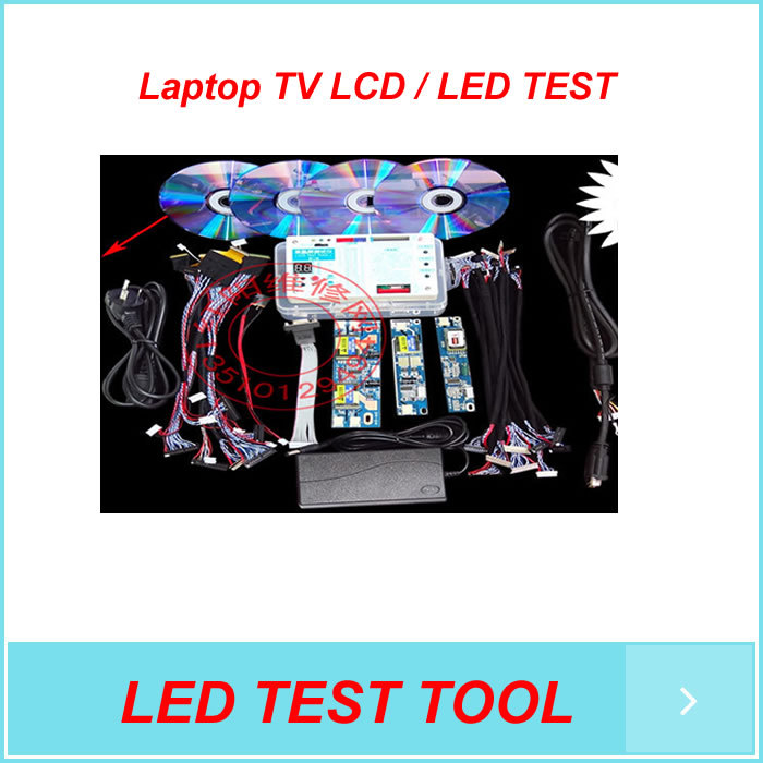 Free shipping New Laptop TV LCD / LED TEST TOOL/LCD panel tester kit/ Support 7 -55 Inch +LED Screen test line edp lcd test tool edp lcd tester lcd panel tester kit tools 10 27 inch 30 pin edp screen test line page 9