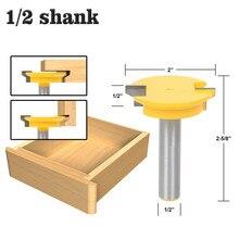 """1 шт. 12,7 мм 1/"""" хвостовик Реверсивный ящик передний шарнир деревообрабатывающий бит вольфрам карбид замок для ящика резак для дерева"""