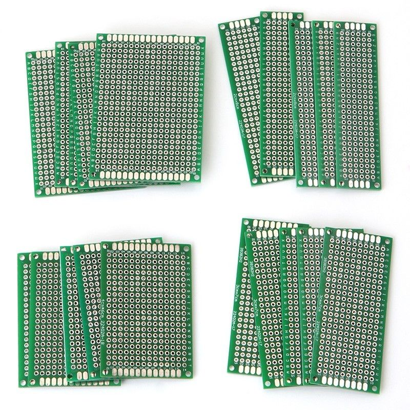 20pcs/set Double Side Protoboard Circuit Universal Prototype PCB Breadboard Board For Power Tool dhl ems 200 pcs double side prototype pcb tinned universal board 4x6 4 6cm j33
