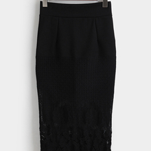 Saia, длинная юбка, настоящая Империя, полиэстер, хлопок, до середины икры, прямая, однотонная,, стиль, женская, разрезная, кружевная, прошитая юбка