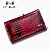 HH Women Luxury Brand Fashion Genuine Leather Short Wallet Female Alligator Hasp Lady Coin Purse Purses