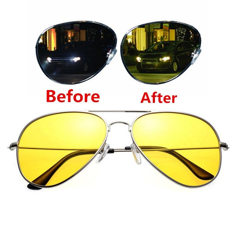 Anti-glare Polarizer Car Drivers Night Vision Glasses Polarized  Copper Alloy Sunglasses Night Vision Goggles Auto Accessories