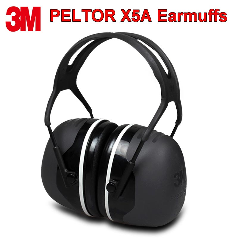 3M PELTOR X5A orejeras de aislamiento acústico cómodo, orejeras profesionales Anti-ruido, Protector auditivo para conductores/trabajadores Orejera electrónica táctica para disparar, auriculares antiruido, protección auditiva amplificación de sonido, auriculares plegables, triangulación de envíos