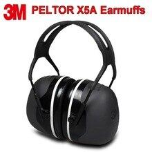 3M PELTOR X5A orejeras de aislamiento acústico cómodo orejeras profesional Anti ruido Protector auditivo para conductores/trabajadores
