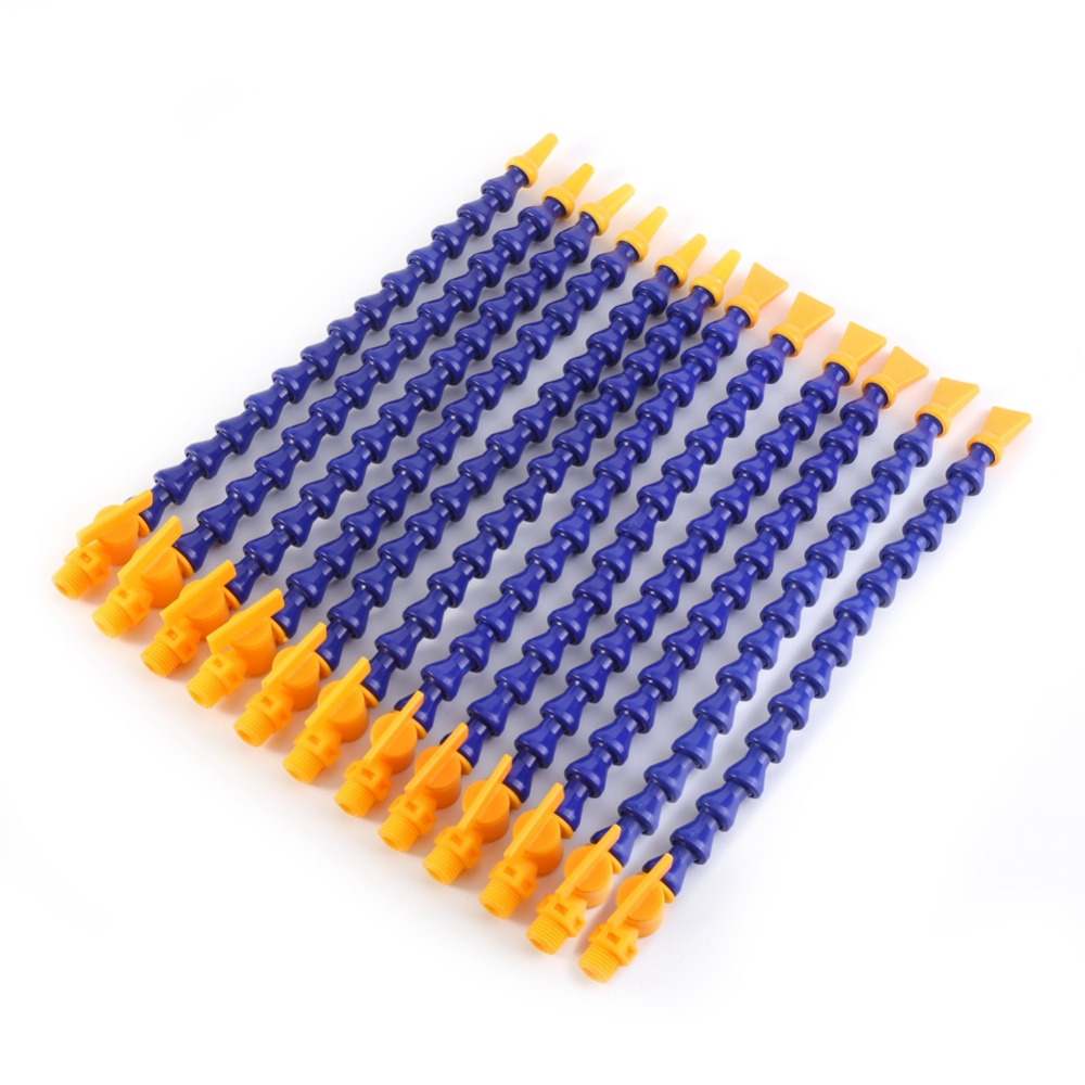 36pcs set CNC Lathe Machine Pipe Hose Round Flat Nose Flexible Water Oil Coolant Pipe Fittings