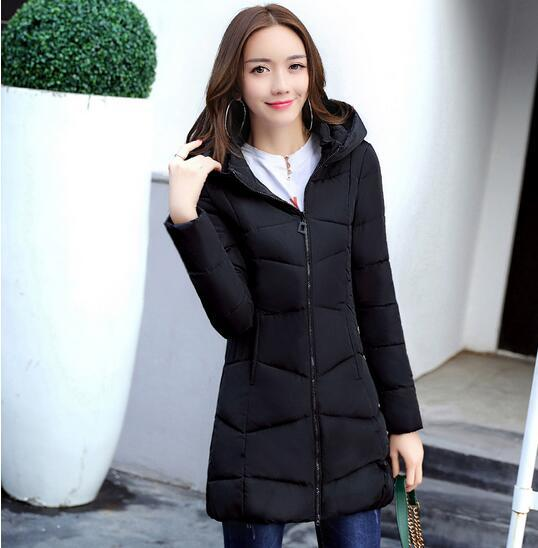 2017 Women Top Winter gray Y Cotton Blue 754 Famale Fashion sky Warm padded Jacket Black pink Coat Hooded Cotton New Parkas rECqOv6Hrw