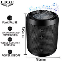LIGE Mini Portable Wireless Bluetooth Speaker Stereo Speakerphone Radio Music Subwoofer Column Speakers for Computer with TF FM(China)