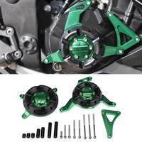 1Set CNC Aluminum Motorcycle Engine Guard Protective Cover Side Shield Protector for Kawasaki Ninja 300 Z250 Z300 Durable New
