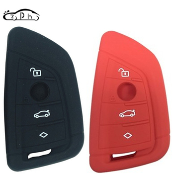 Silicone Car Key Case For BMW F15 F16 F48 G30 F85 G11 M 2018 X1 X3 X4 X5 X6 35i 50i 1 2 5 7 Series Key Coldre Cover 4 Button image