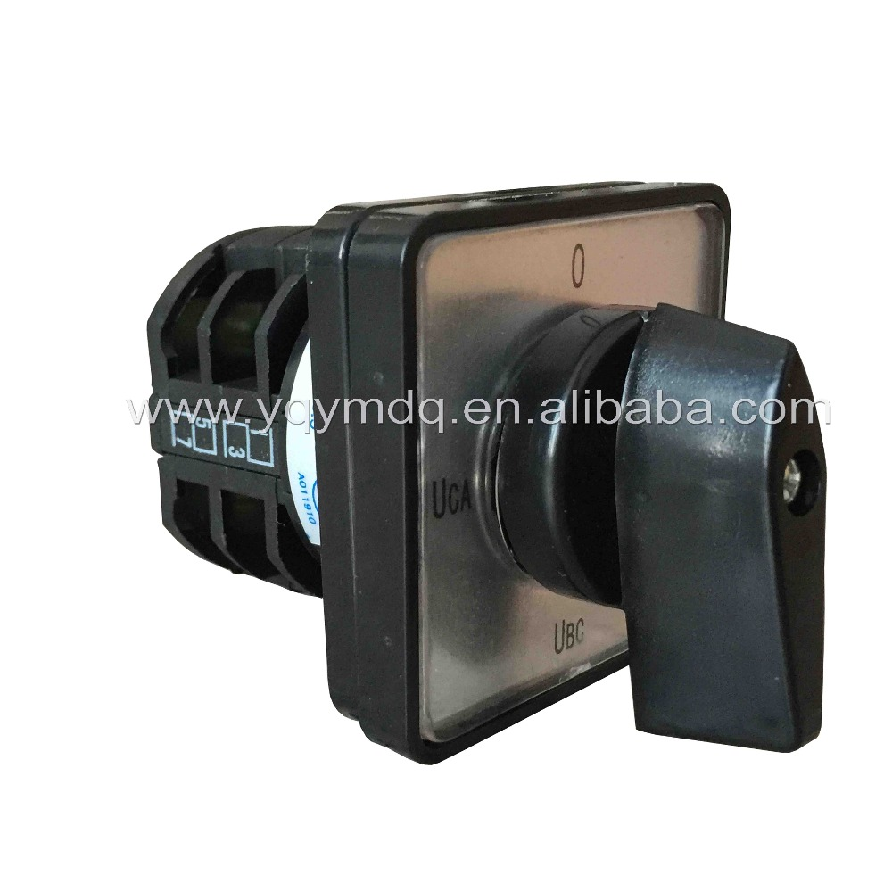 Rotary switch 4 position LW8-10YH2/2 universal switch 10A 2 poles voltage convert black rotary changeover switch silver contact rotary switch knob 3 position ymz12 32 2 universal combination manual electrical changeover cam switch 32a 690v 2 phases