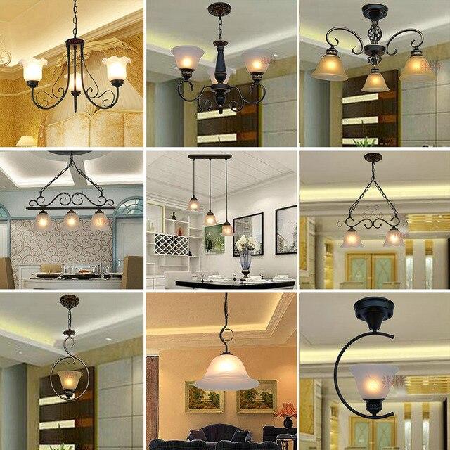 Hghomeart American Retro Style Iron E27 Led Pendant Light Luminarias Dining Room Nordic Vintage Lamp