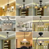 HGhomeart American Retro Style Iron E27 Led Pendant Light Luminarias Dining Room Nordic Vintage Pendant Lamp