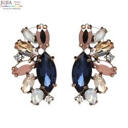 JUJIA 2019, ювелирные изделия, оптовая продажа, трендовая Мода, хорошее качество, женские серьги с кристаллами, винтажные массивные серьги для же...