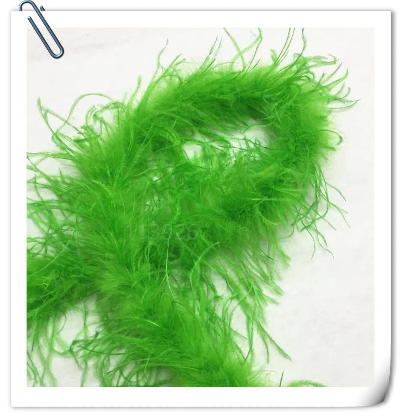 EMS free!2meters Long OSTRICH FEATHER BOA/Strips/Scarves green ostrich plumes for wedding decoration indian headdress skirt