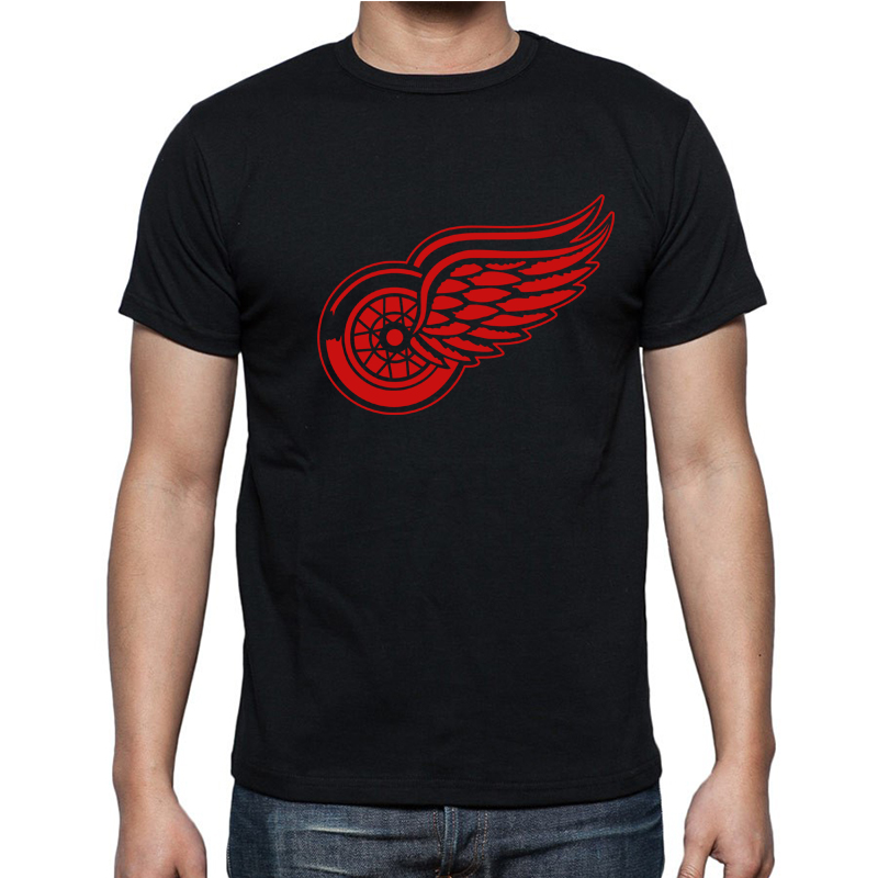 New Detroit Red Wings   T  -  shirt   cotton Big & Tall Logo Fashion Wings Short Sleeve hip hop   t     shirt   tshirt men Camisa XS-2XL