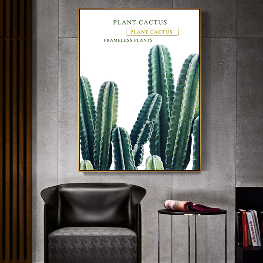 Unframed Canvas Prints Plant Cactus Giclee Wall Decor Prints Wall Picture For Living Room Wall Art Decoration Dropshipping