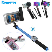 New Bluetooth Selfie Stick With Waterproof Case For Iphone Xiaomi Samsung Huawei Android Phones Extendable Monopod