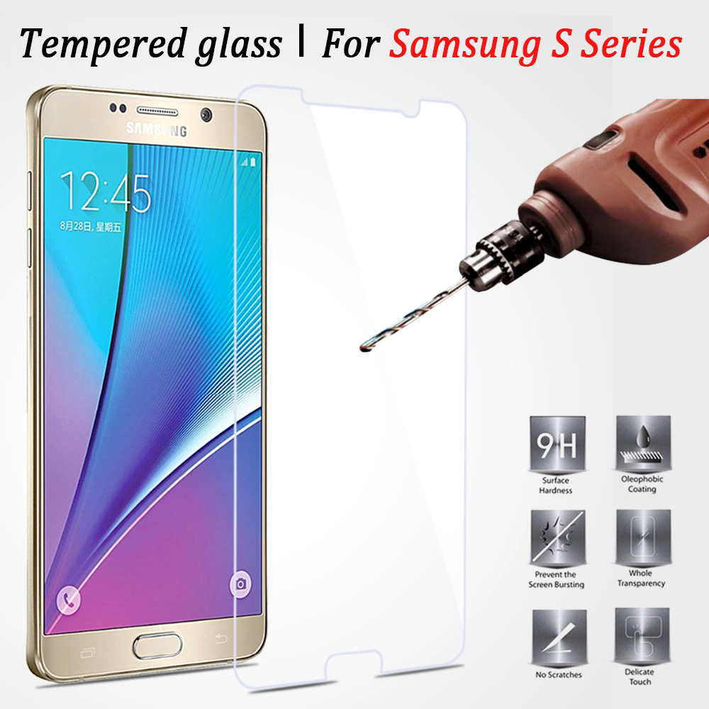 9H 2.5D Tempered Glass Film For Samsung Galaxy S2 3 4 5 6 7 Explosion Proof Screen Protector for S7 S6 S5 S4 S3 S2 Film Cover
