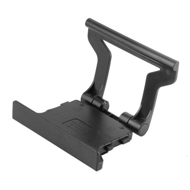 Soporte de montaje de Clip de TV de plástico negro de plástico de uso duradero compatible con Sensor Kinect de Microsoft Xbox 360