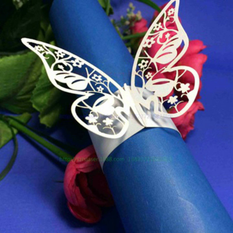 100pcs Towel Buckle Butterfly Wedding Decorations Napkin Ring For Wedding  Decoration Table Decoration Accessories 65Z(