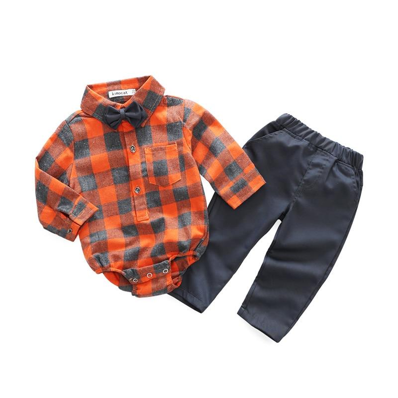 цена на Kimocat Infant Baby Boys Formal Wedding Clothes Suit T-Shirt+Pant Outfits Set Newborn Baby Boy Clothes Set Birthday Toddle Cloth