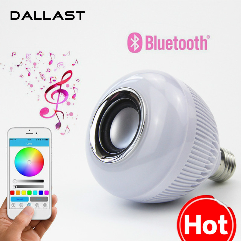 LED Lamp Wireless RGB Bulb Bluetooth Lampada Speaker Lamparas RC Ampoule E27 85V-265V Bombillas Light Music Playing DALLAST
