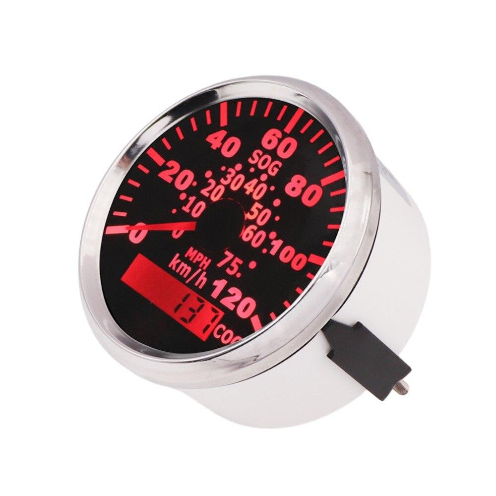 85mm Stainless Waterproof GPS Speedometer 120 Km h 75 MPH Speedometer Gauge Car Boat with Backlight