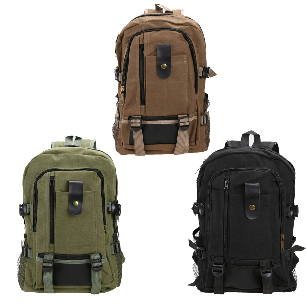 44*28*16cm Adjustable Padded Shoulders Outdoor Bag Three Colors Canvas Outdoor Travel Rucksack Mountain Hiking Backpack EA14
