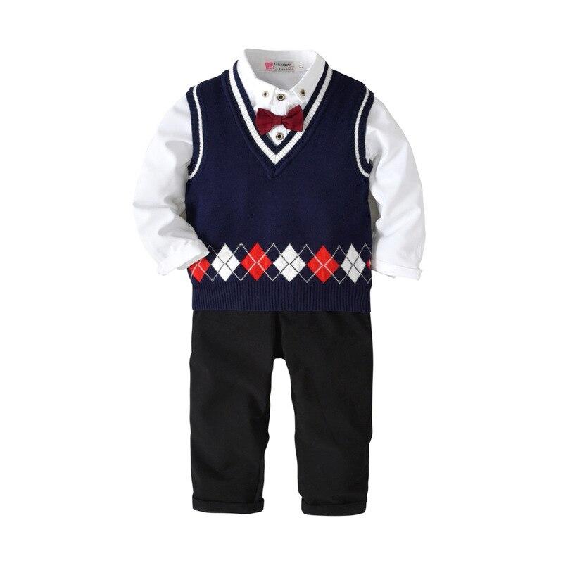 2018 Autumn Winter Childrens Suit Boys Kids Clothes Cotton