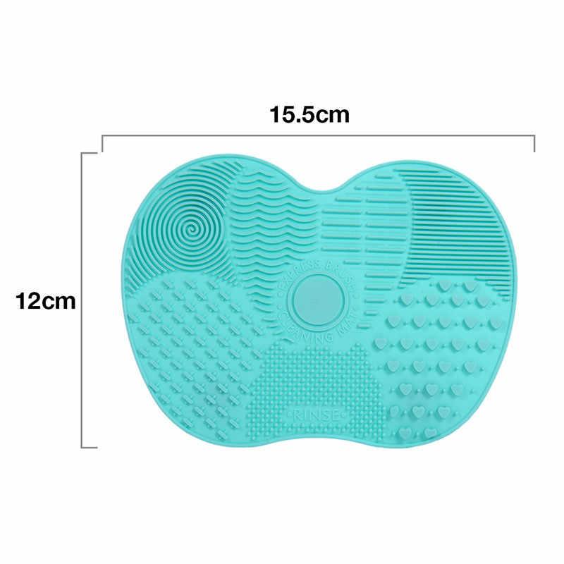 1PC silikonowa do czyszczenia pędzli mata do mycia narzędzi do kosmetyki Make up brwi szczotki do czyszczenia Pad Płyta do szorowania makijaż Cleaner
