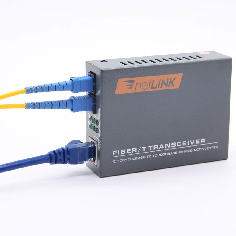 Netlink – émetteur-récepteur Double Fiber optique RJ45, convertisseur de média, 10/100/1000M, 1 pièce, mode Simplex, 2KM