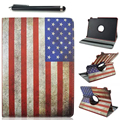 360 Rotation Stand fashion US flag PU leather cover Case for Samsung Tab A 9.7 T550 T555 P555 P550 Tablet capa funda