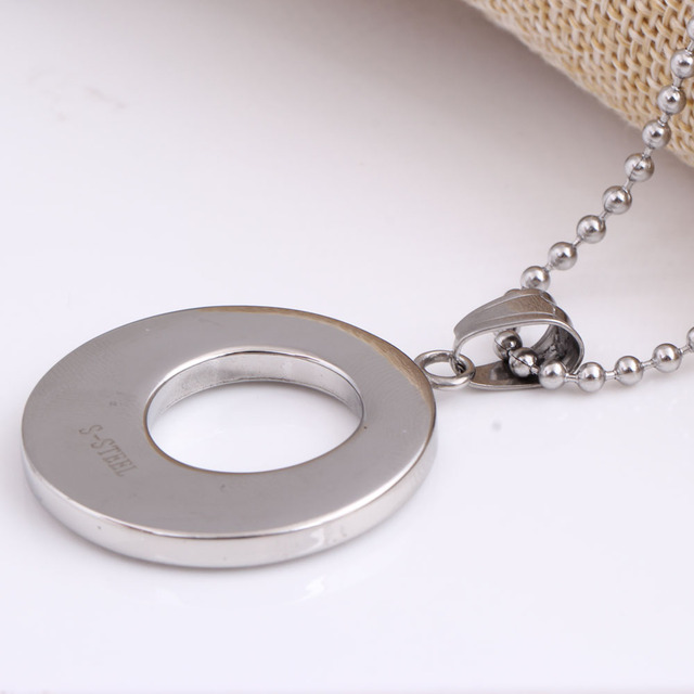 Stainless Steel Crystal Pendant Fashion necklaces